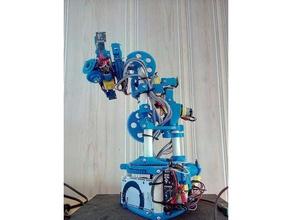 modular robotic arm robotics 3d printing robot arm arduino arduino mega arduino mega 2560 arm cheap dc-motor dc motor diy gears low budget low cost modular modular robot multiaxis pvc pipe robot robotics robot arm tt motor