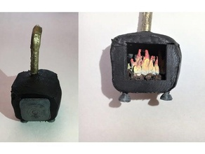 miniature wood stove lid fire games dnd dnd miniature dnd prop dungeons dragons gaming miniature miniature 28mm rpg rpg prop stove wood stove