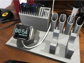 istuff-dock-all-in-one - Elektronik iphone iphone-Ständer iwatch iwatch stehen micro sd Bleistift-Halter Stift-Halter sd-Karte sd-Karten-Halter