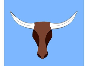 longhorn design animali bull il bestiame mucca longhorn wslab