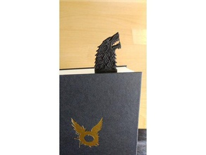 direwolf sword bookmark - game thrones - house stark 3d printing bookmark bookmarks direwolf game thrones got house stark stark sword game thrones