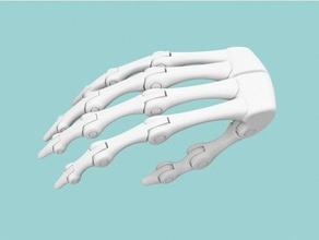 biomimetic hand endoskeleton 3d printing assembly biomimetic bionics endoskeleton hand robotic robotics skeleton