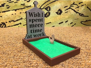 wish spent more time work decor addicted work asllexicon compulsive worker gift grave grave site gravesite grave marker grave monument grave tomb grindstone halloween hard worker industrious laborious  memorial tomb more time work nose grindstone olsen overachiever present prusa spooky time work tinkercad todd todd olsen tomb tomb stone tombstone wish work work addict workaholic