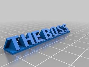 boss 3d printing boss desk sign boss boss desk sign