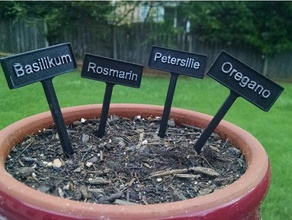 plant tags - german outdoor & garden beschriftung blume flower flowerpot garden label oregano petersilie pflanze plant pot rosmarin tag