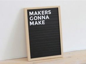 letter board - fully 3d printed decor black black message board board calligraphy cute diy felt font frame hipster household letter lettering message message board photo picture tutorial typo typography wall