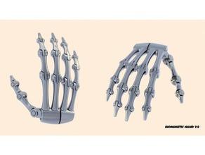biomimetic hand v2 robotics 90s robot biomimetic biomimetic hand endoskeleton hand prosthetics robotic hand robotics skeleton terminator 90s robot
