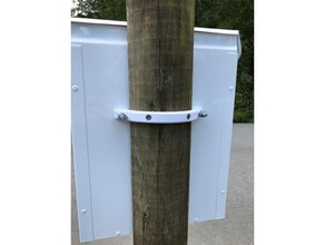 mailbox bracket pole diy mailbox mailbox bracket mailbox thing