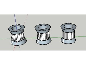 16 tooth gt2 idler pulley kossel 3d printer parts 16t 16 tooth delta delta printer gt2 gt2 16t gt2 16 teeth gt2 belt gt2 belt pulley gt2 pulley idler idler pulley kossel kossel 2020 kossel mini pulley reprap