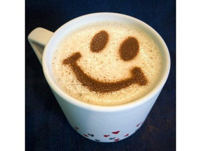 coffee stencil - smiley face kitchen & dining 16 oz 16oz 90mm caffeine cinnamon cocoa coffee coffee stencil container friday glass happy happy friday have nice day hydration mug nice day powder powdered sugar smile smiley smiley face starbucks stencil sugar travel travel cup travel mug traveller