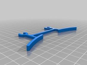 flux delta glass holder - 1mm longer 3d printer accessories better glass clip designspark dsm dsm2 flux flux3dp flux3dprinter flux 3d flux 3d printer flux delta glass clip glass clips glass holder rsdoc themakerhive