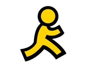 aol running man logo 3d printing aim america online aol logo running running man yellow man