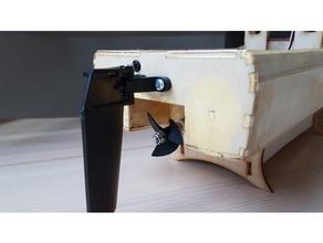 einzelne Schraubenzieher-Arbeit Boot gestopt Beschreibung unten r c Fahrzeuge Boot lasercut Sperrholz