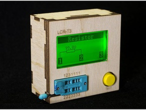 plywood case lcr-t3 component tester lasercut electronics component tester case component lasercut lcr-t3 plywood tester transistor tester