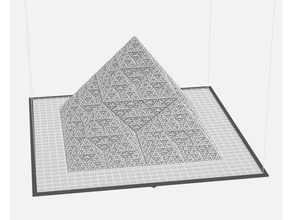 super duper fractal pyramid math art fractal fractal pyramid infinitesimal infinity pyramid sierpinski sierpinski triangle super duper