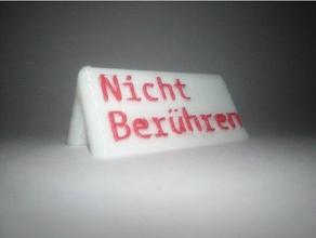 do not touch sign nicht ber hren schild german deutsch aufsteller deutsch display stand do not touch don't touch german nicht ber hren schild sign