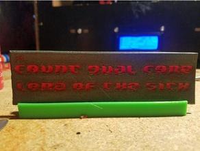 count dual core desktop plaque office desktop desktop display desktop stand funny plaque plaque stand sith sith lord