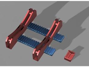 tush++ 3d printer accessories 608 bearing filament filament spool filament spool holder holder prusa i3 spool spoolholder spool holder tush universal universal spool