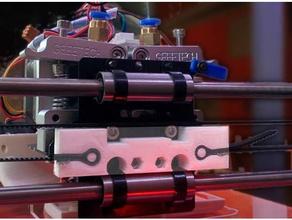 geeetech i3 dual extruder horizontal x axis belt tie clamp 3d printer parts belt clamp belt holder clamp dual extruder dual extrusion geeetech geeetech i3 geeetech i3 pro c geetech i3 gt2 gt2 belt gt2 belt clip horizontal timing belt x-belt x belt x belt holder