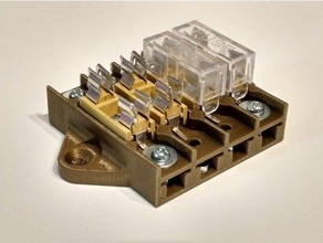 205 fuse terminal block - 4 post electronics 205 20mm 5mm fuse fuse block fusebox fuse holder glass glass fuse insurance tube m205 post terminal terminal block terminal strip terminals tube