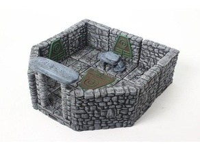openforge 20 encounter earth shrine toy & game accessories construction kit dnd dnd tiles dungeon earth encounter frostgrave miniatures openforge openforge2 pathfinder pathfinder tiles rpg rpg tiles shrine tabletop terrain tile