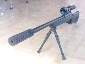 airsoft sniper rifle flash hider sport & outdoors airsoft airsoft accesories airsoft sniper sniper sniper rifle