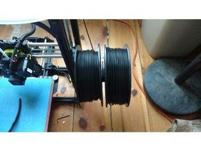 dual reel adapter 3d printer accessories dual reel filament reel adapter filament reel holder lulzbot taz 6 reel adapter taz 6