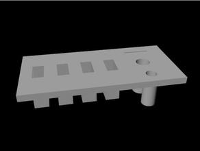 modular desktop tool holder plate option 4 tool holders & boxes 3dprinting desktop desktop holder holder modular modulare tool tool holder