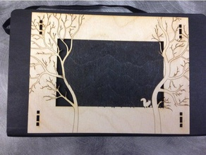 laser cut forest frame w squirrel decor acorn decor decoration forest frame laser lasercut lasercutter lasercutting laser cut laser cutter laser cutting laser engraver nut outdoor photo photography photo frame picture picture frame squirrel tree trees wood