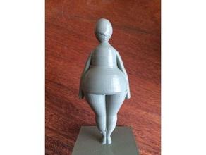 pear body shape 3d printing 3d model body body shape model pear pear body shape woman woman body