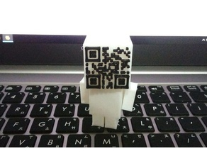qr coder toys & games block man block people block person openscad qr-code qr code qr coder text