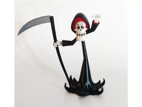 grim les créatures os dessin animé la mort grim faucheuse la fête d'halloween la faucille squelette le crâne