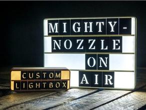 customizable retro lightbox signs & logos customizable customizer led led lamp led light led strip letters light lightbox openscad retro retro lightbox retro lights
