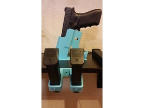 glock 17 magazine wall table holder should fit all 9mm tool holders & boxes 9mm glock glock 9mm glock mag glock magazine glock magazine holder glock perfection glock 17 magazine magholder pistol pistol magazine rack tablestand wall hanger wall mount