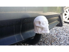 skull 50mm tow hitch ball cover automotive hitch hitch ball hitch cover mini fabrikator tinkercad tow hitch trailer hitch