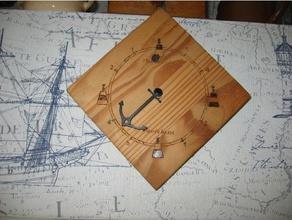 aiguille ancre pendule - mar e graphe art aiguilles anchor ancre bateau boat clock mar e mar egraphe marine pendule sea tide-gauge tides