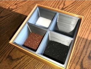 salt cellar large holds 4 types salts kitchen & dining salt salt box salt cellar salt holder