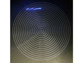 model testing circle printing 3d printing tests concentric circles testing