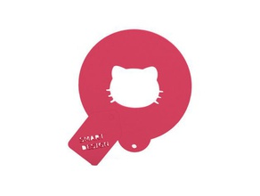 coffee stencil - hello kitty kitchen & dining 3d slash accessories accessory anet a8 baking bakingcookies baking goods baking tools cat coffee coffee stencil cookie cookies cooking cooking utensil cool dining cooking gadget gadgets gadgets3d gift gifts hellokitty hello kitty ikea kitchen kitchenware kitchen tool kitchen utensils kitty kitty cat madewithtinkercad makeprintable  makeredchallenge no support no supports openscad prusa stencil supportless sweet thingiverse tinkercad ultimaker ultimaker2 ultimaker original useful