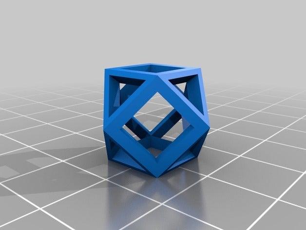 cuboctahedron math art cu