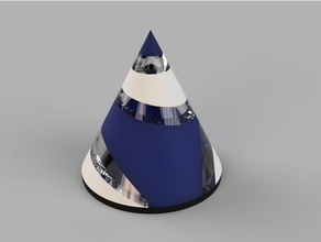 conic sections multi material math conic dual extrusion geometric geometry math math art multi-color multimaterial