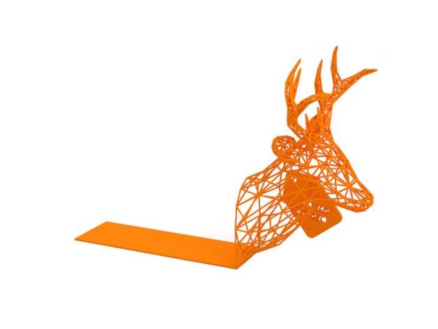christmas bookend - deer