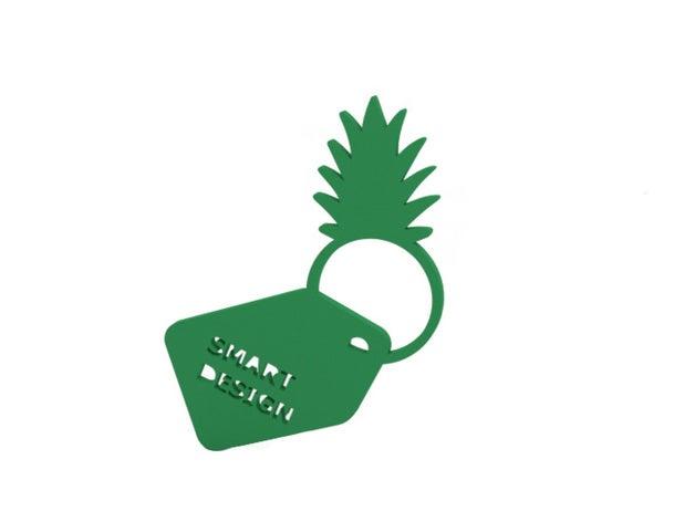 ring - pineapple rings 3d