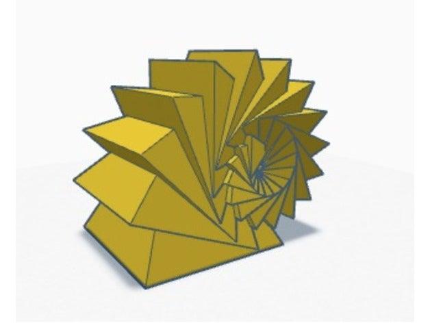 pyramid spiral fractal 3d