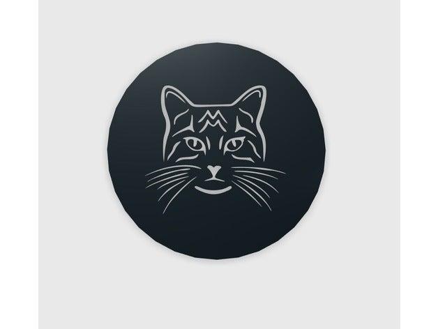 cat face coffee stencil 2
