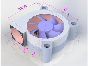 3d printed upgrade old 80 25 fan v240mm diy 40mm 80mm 80x25 92mm blower fan recycle repair