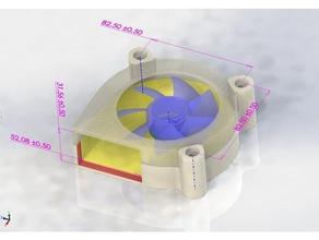 3d printed upgrade old 80 25 fan v11 diy 40mm 80mm 80x25 92mm blower fan recycle repair