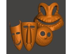oogie-boogie his kids costume halloween lockshockandbarrel mask oogie boogie