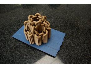 spherical chainlink knot sculptures art ball chainlink chainlinks design knot math sculpture sphere
