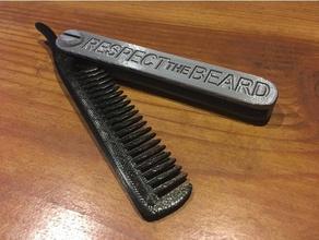 folding beard comb household beard beard comb comb mustache mustache comb travel comb